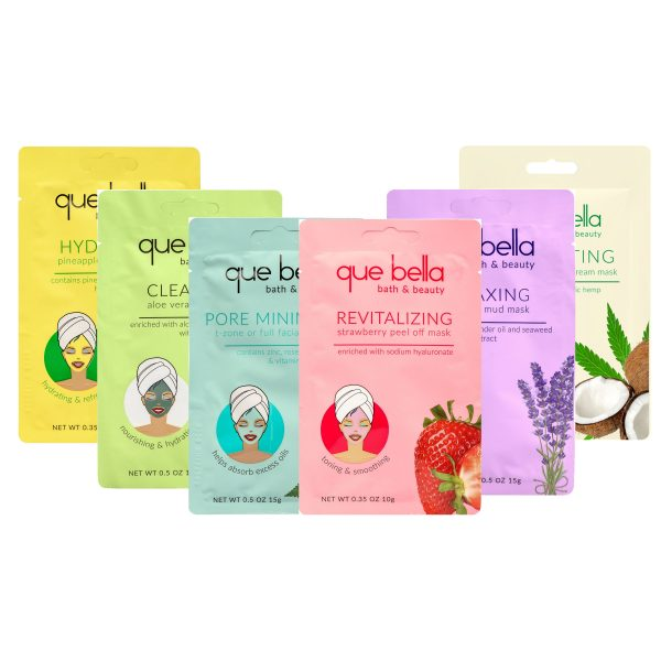 Que Bella Multi Face Mask pack