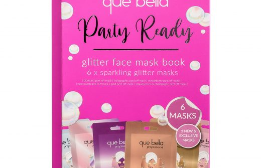 Que Bella Holiday Glitter Peel off Mask 6 Pack